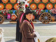 Monachium, Niemcy - 22 Oktoberfest Wrzesień 2013, parada Potomstwa m obrazy royalty free