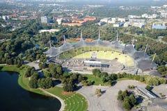MONACHIUM NIEMCY, Wrzesień, - 13, 2016: Widok z lotu ptaka Olimpijski park Zdjęcia Stock