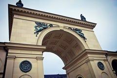 Monachium, Odeonsplatz, wrotna brama Hofgarten w renesansie Fotografia Stock