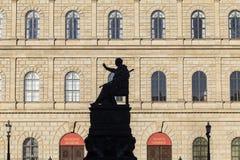 Monachium siedziba z statuą Obrazy Royalty Free
