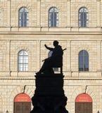 Monachium siedziba z statuą Fotografia Royalty Free