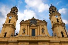 Monachium theatine do kościoła Zdjęcie Royalty Free