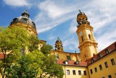 Monachium theatiner do kościoła obraz royalty free
