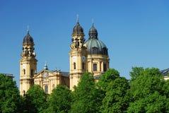 Monachium theatiner do kościoła zdjęcie royalty free