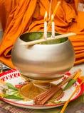 Monaci buddisti, ciotola Immagini Stock
