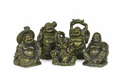 Monaci buddisti felici fotografia stock
