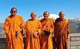 Monaci buddisti vicino del vulcano di St Helens fotografie stock