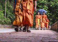 Monaci di camminata Immagini Stock Libere da Diritti