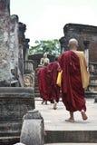 Monaci di Polonnaruwa immagine stock libera da diritti
