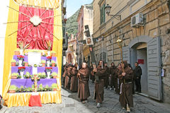 Monaci in sarno Fotografie Stock