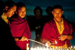 Monaci tibetani, Nepal Immagine Stock Libera da Diritti