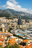 Monaco. And its famous harbour and swimming pool Royalty Free Stock Photography