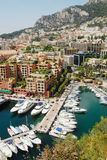 Monaco. And its famous harbour Stock Photos