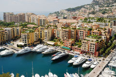 Monaco. And its famous harbour Stock Images