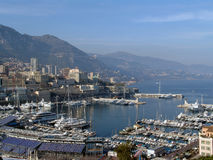Monaco. The mediterranean sea view royalty free stock photography