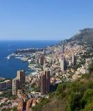 Monaco. A view over the harbour of monaco stock photo