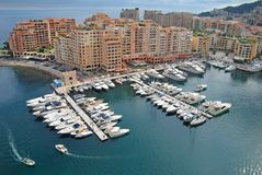 Monaco. Harbor and Port of Fontvieille in Monaco Royalty Free Stock Photos