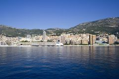 Monaco. Monaco coastline on a beautiful sunny morning Stock Photography