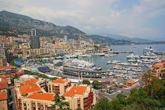 Monaco. Principality of Monaco, the northwest section including the port area, Port Hercule Royalty Free Stock Photos