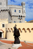 Monaco. The statue of Francesco Grimaldi outside the Prince's Palace of Monaco Stock Photos