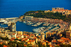Monaco. Prinicipality of monaco on the french riviera france cote d'azur royalty free stock photos