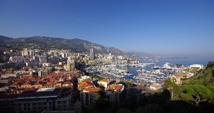 Monaco. Wide view of Hercules port, Monte Carlo, Monaco Stock Photo