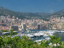 Monaco. City and harbor view stock photography