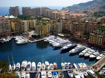 Monaco. The views of the yacht harbour in Monaco Stock Photo