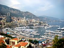 Monaco. Harbour with numerous sailing boats and yachts Stock Image