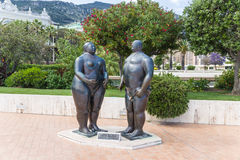 Monaco. Adam and Eve sculpture Stock Image