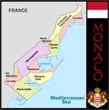 Monaco Administrative divisions Stock Photography