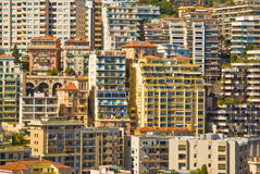 Monaco apartment buildings. Concentrated in a small area royalty free stock images