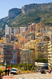 Monaco apartment buildings. Concentrated in a small area Royalty Free Stock Image