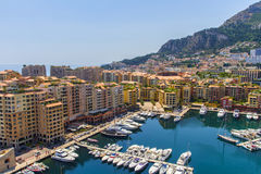 Monaco apartment buildings Royalty Free Stock Photos