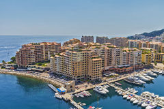 Monaco apartment buildings Stock Images