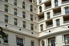 Monaco apartments windows and balcony Stock Images