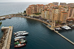Monaco - Architecture Fontvieille district Royalty Free Stock Photo