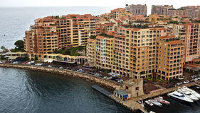Monaco - Architecture Fontvieille district Stock Image