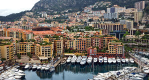 Monaco - Architecture Fontvieille district Royalty Free Stock Photography