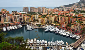 Monaco - Architecture Fontvieille district Stock Photos