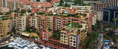 Monaco - Architecture Fontvieille district Stock Photography