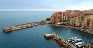 Monaco - Architecture Fontvieille district Royalty Free Stock Photos