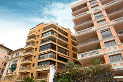 Monaco - Architecture of residential buildings Stock Photos