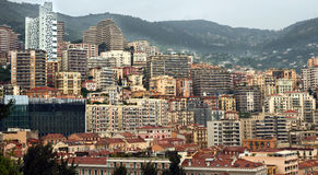 Monaco - Architecture of residential buildings Royalty Free Stock Image