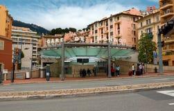 Monaco - Bahnstation Lizenzfreie Stockfotos