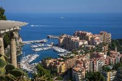 Monaco. Bay as seen from botanical garden Royalty Free Stock Photography