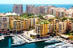 Monaco. Beautiful View of Fontvieille, Monaco stock images
