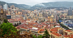 Monaco - A beautiful view of Monte Carlo from the heights Royalty Free Stock Photography
