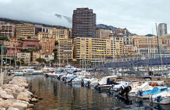 Monaco - Boats in the port Hercules Royalty Free Stock Photos