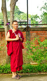 Monaco buddista al Siem Reap Villiage culturale Immagini Stock Libere da Diritti